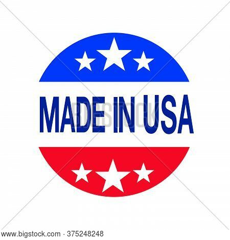 08-made In Usa Sign Vector