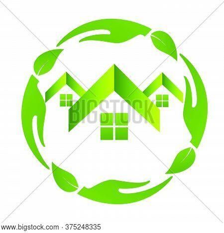 02-real Estate, Eco House Design Vector Template