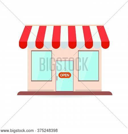 05-store Shop Or Market, Vector  Illustration Background