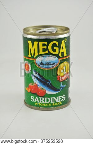 Manila, Ph - June 26 - Mega Sardines In Tomato Sauce Can On June 26, 2020 In Manila, Philippines.