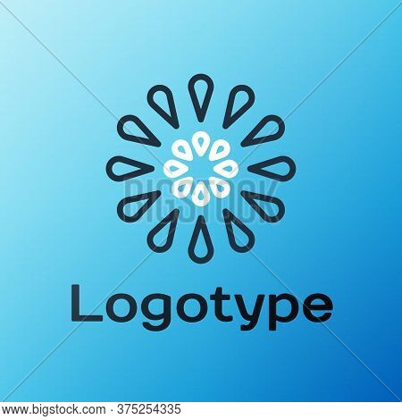Line Firework Icon Isolated On Blue Background. Concept Of Fun Party. Explosive Pyrotechnic Symbol.