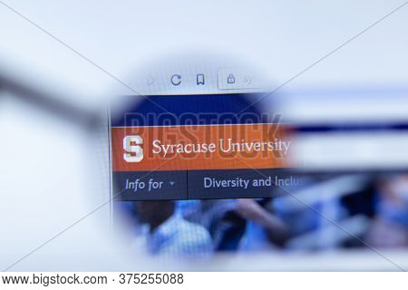 Moscow, Russia - 1 June 2020: Syracuse University Website With Logo, Illustrative Editorial