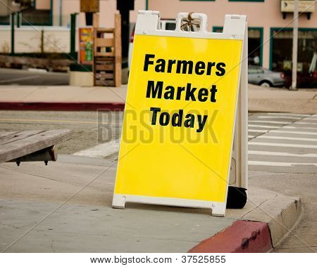 Farmers Market Sign - Sandwich Board