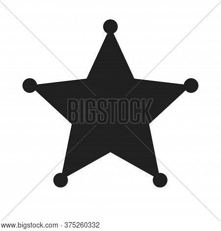 Sheriff Star Icon. Sheriff Symbol On White Background.