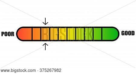 Credit Score Icon. Vector Isolated Progress Indicator.