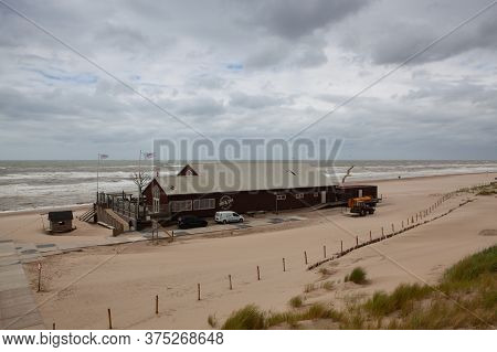 Petten An Zee, Netherland - June 29,2020: Famous Beach Pavillion Zee En Zo On The Beach In Petten An