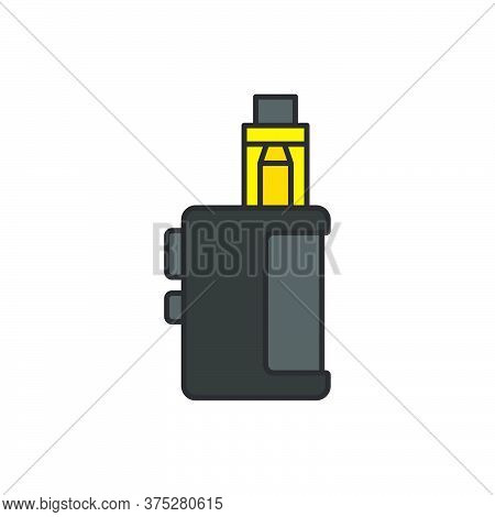 Vaporizer Electric Cigarette Vector Icon Symbol Isolated On White Background