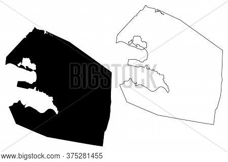 St. Johns City (antigua And Barbuda, Antigua Island) Map Vector Illustration, Scribble Sketch City O