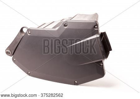 Filter Housing For Cleaning The Intake Manifold Of The Car Engine Made Of Black Plastic For Air Cond
