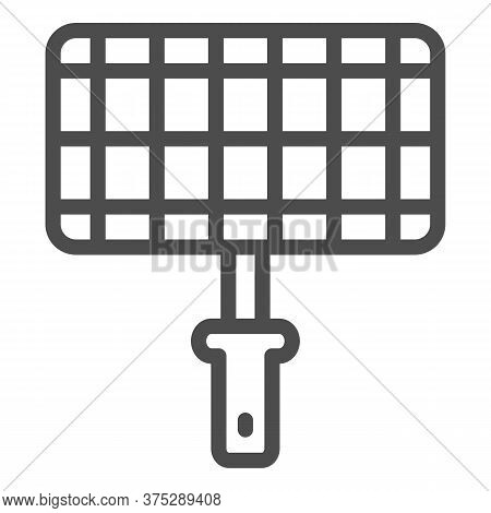 Grill Steel Grid Line Icon, Picnic Concept, Barbecue Grille For Grilling Sign On White Background, L