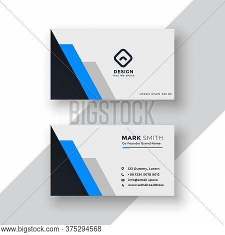 Modern Professional Business Card Template.simple Business Card. Corporate Business Card Design.colo