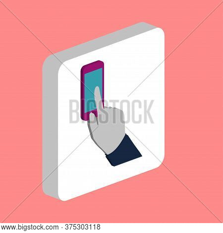 Hand Use Phone Simple Vector Icon. Illustration Symbol Design Template For Web Mobile Ui Element. Pe