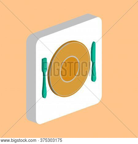 Tableware, Fork Dish Knife Simple Vector Icon. Illustration Symbol Design Template For Web Mobile Ui