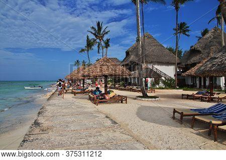 Zanzibar / Tanzania - 31 Dec 2016: Nungwi Beach On Zanzibar Island, Tanzania
