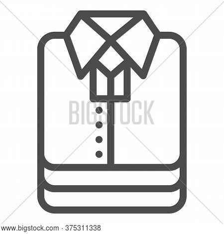 Shirt Stack Line Icon, Shopping Concept, Stacked Folded Clothes Sign On White Background, Stack Of S
