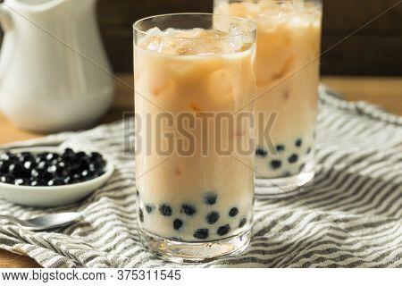 Refreshing Homemade Boba Milk Tea