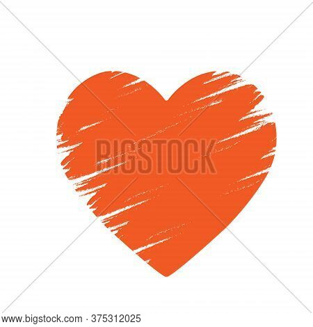Stylized Vector Illustration Of A Heart, For T-shirts, Banner Stickers And Theme Design, Isolated On