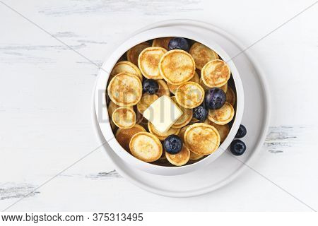 Food Cooking Trend, Pancake Cereal, Tiny Pancakes With Raspberry, Blueberry