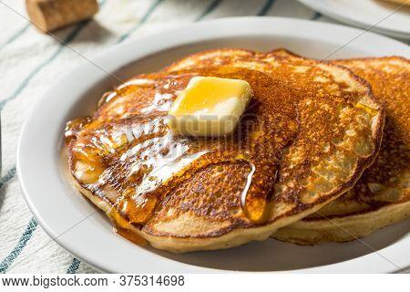 Homemade Warm Buttermilk Pancakes