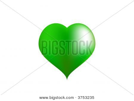 Big Green Love Heart
