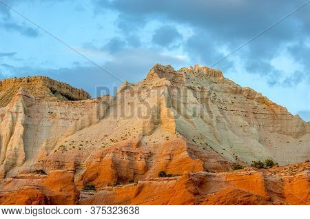 Unique Bright Layers Of Sandstone Formations In Kodachrome Basin State Park, Utah, Usa