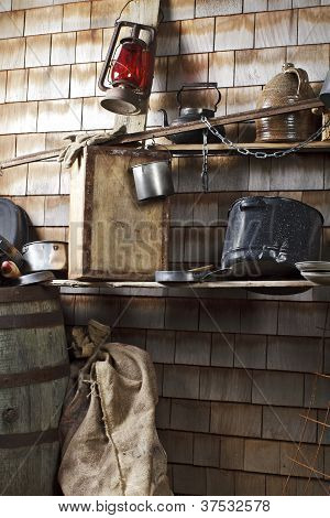 Traditional Cowboy Makeshift Camp Kitchen