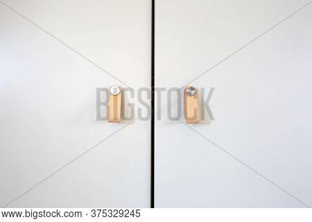 Cupboard Leather Door Handles Thor Modern Style, Retro Decoration For Closet Doors Background Textur