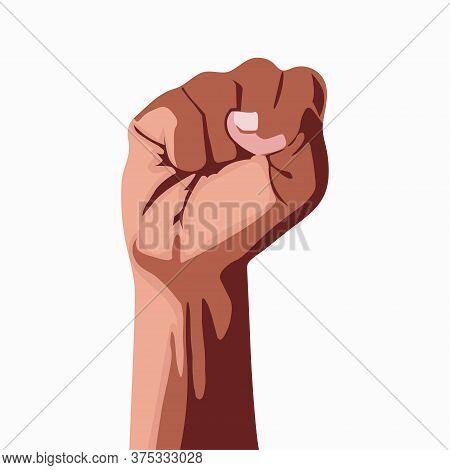 Black Lives Matter Modern Logo, Banner, Design Concept. Hand Symbolizes For Black Lives Matter Prote