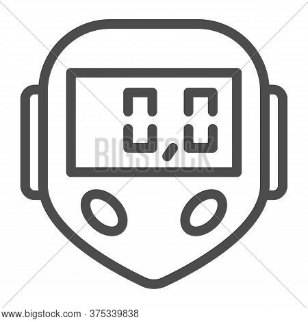 Bicycle Speedometer Line Icon, Bicycle Concept, Speedometer Sign On White Background, Bike Computer