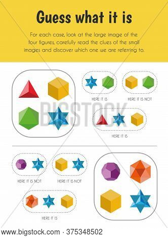 Guess What It Is Educational Sheet. Primary Module For Logic Reasoning. 5-6 Years Old. Educational S