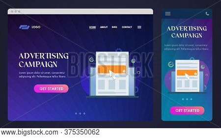 Advertising Campaign, Native Programmatic Ad, Ui Ux Web Design Template And Gui Mobile Application,