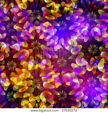 bright seamless flowers