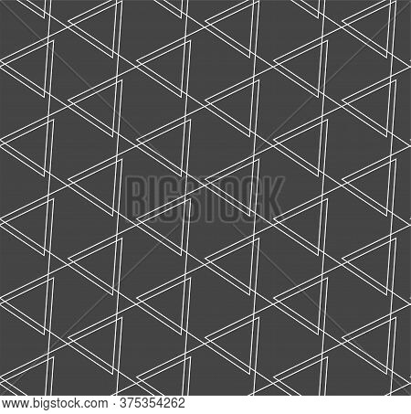 Continuous Geometric Vector Symmetrical, Decor Texture. Seamless Ramadan Graphic Triangle Swatch Pat