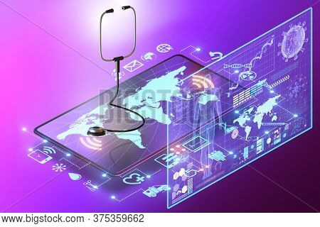 Telemedicine and m-health concept - 3d rendering