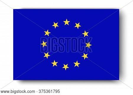 Eu Flag. Icon Of The European Union Of States. The Symbol Of The Schengen Countries.