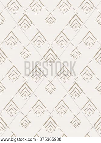 Seamless Simple Vector 1920s Wallpaper Texture. Repetitive Ornate Graphic 1920 Background Pattern. R