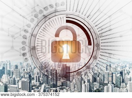 Computer Security Concept And Information Technology. Risk Management And Professional Safeguarding.