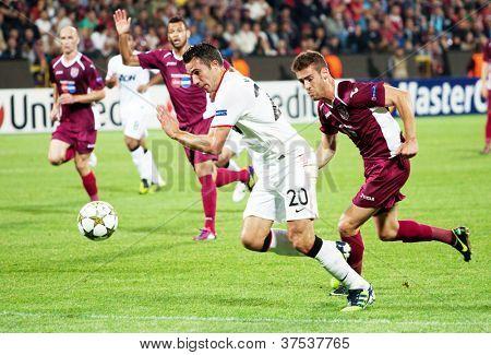 CLUJ-NAPOCA, ROMANIA - OCTOBER 2: van Persie in UEFA Champions League match between CFR 1907 Cluj and Manchester United, Dr. C. Radulescu Stadium, Cluj-napoca, on 2 Oct., 2012 in Cluj-Napoca, Romania