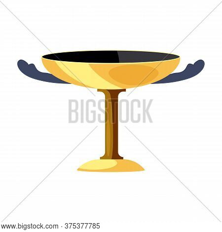 Antique Vase With Two Handles Flat Icon. Cup, Greek Style, Wine. Greek Vases Concept. Illustration C