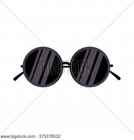Sunglasses. Eyewear, Circle, Eyes Protection. Illustration Can Be Used For Topics Like Summer Vacati