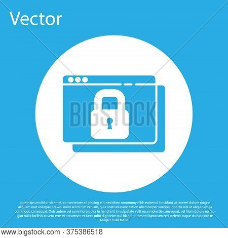 Blue Secure Your Site With Https, Ssl Icon Isolated On Blue Background. Internet Communication Proto