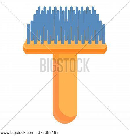 Groomer Pet Steel Brush Icon. Cartoon Of Groomer Pet Steel Brush Vector Icon For Web Design Isolated