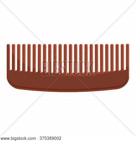 Plastic Comb Icon. Cartoon Of Plastic Comb Vector Icon For Web Design Isolated On White Background