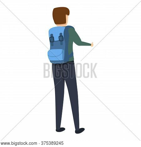 Hitchhiking Catching Icon. Cartoon Of Hitchhiking Catching Vector Icon For Web Design Isolated On Wh