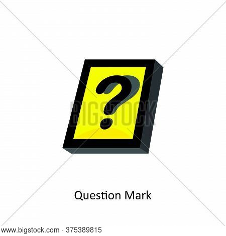 Yellow Square Question Mark. Modern Vector Question Mark. Illustration Question Mark. Eps8.