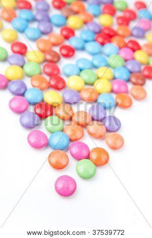 Tidbits multi coloured against a white background