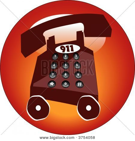 Button Telephone 911.