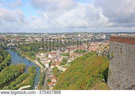 Besancon Citadel And Town In France In Summer