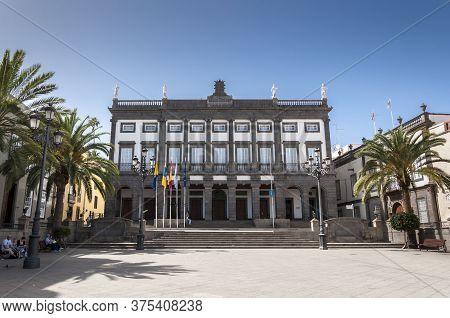 Las Palmas De Gran Canaria - February 17, 2017: City Hall Of Las Palmas De Gran Canaria, In Las Palm