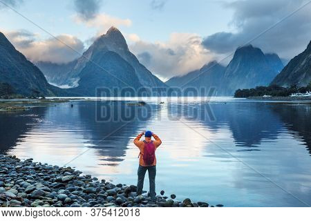 Amazing natural landscapes in Milford Sound, Fiordland National Park, New Zealand